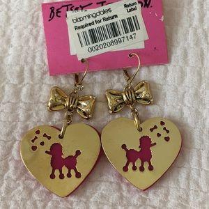 Vintage Betsey Johnson poodle earrings